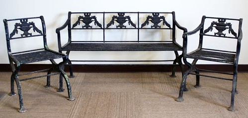 Cast Iron Garden Settee and Chairs ($2,688.00)