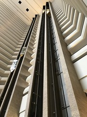 Elevators inside the Hyatt Regency, New Orleans (Travel writer at KristineKStevens.com) Tags: neworleans nawlins hyatt hotel elevator nola