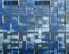 Reflecting facade (chrisk8800) Tags: architecture building facade reflections sky clouds windows lines geometric barcelona ornaments