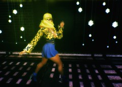 Ray Of Light (SueGeeli DeCuir) Tags: designershowcase furtacor shorts top boots imageessentials poses keke lights slink majesty anxiety virtualworld virtualreality secondlife blogger blog styleitup styleitupsl night rayoflight