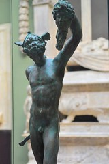 Benvenuto Cellini (1500-1571) - Model for Perseus and the Head of Medusa (c1545-54), painted plaster replica, Victoria and Albert Museum, London, April 2018, front, knees upward (ketrin1407) Tags: cellini perseus medusa mythology renaissance italy florence preliminary victoriaandalbertmuseum va