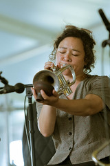 Shaye Cohn of Tuba Skinny at the New Orleans Jazz and Heritage Festival on Sunday, April 29, 2018