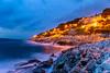 Stormy Seashore in Hvar (Wolfhowl) Tags: spring landscape sunset seashore sailing boats light dusk yacht lights sea adriatic yachting storm hvar travel shore croatia island sky seascape europe may rocks waves
