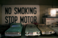 Stop Motor (Curtis Gregory Perry) Tags: no smoking stop motor sign car plastic model monte carlo chevy chevrolet nikon d810