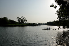 Round the bend (sanat_das) Tags: rowing doublesculls roundthebend afternoon rabindrasarobar kolkata d800 28300mm
