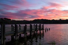 Pretty in pink (BDFri2012) Tags: sunset lake bonellipark bonelli dock clouds puddingstonelake puddingstone reflection water park losangelescounty southerncalifornia southwestunitedstates americansouthwest landscape