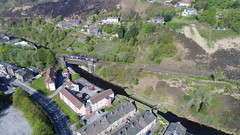 Todmorden (North Ports) Tags: todmorden gauxholme walsden viaduct leeds manchester railway rochdale canal aerial uav dji phantom