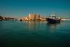 Returning with the catch.... (Dafydd Penguin) Tags: fish fishing vessel ship boat craft harbour harbor port dock sea water harbourside waterside blue evening light sete mediterranean southern france leica m10 elmarit 21mm f28