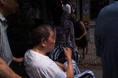 Nameless (Spontaneousnap) Tags: spontaneousnap street shanghai china city like candid documentary people publicareas lifestyle 上海 ricohgr takeabreak afternoon asia wheelchair bodypainting stripe