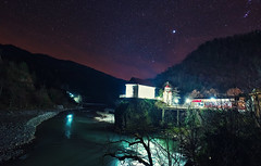 Church in Adjara (Lesser Caucasus) (free3yourmind) Tags: church night sky stars starry lesser caucasus orthodox river mountains batumi adjara adjaria georgia
