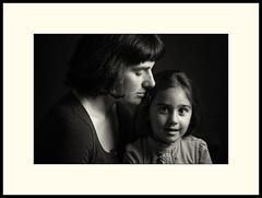 Retratos de un Pasado (abdulkareemgomezjacobus) Tags: blackandwhite monochroom portrait cantabria spain bw child mother tenderness canon5000d lowkey flashphotography studio