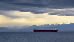 China Harmony (Paul Rioux) Tags: marine commercial freighter bulk carrier chinaharmony ship vessel boat salish sea ocean olympic mountains clouds weather storm prioux victoria bc