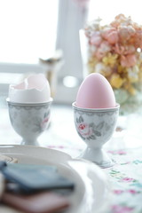 pink easter egg (nearbyescape) Tags: tabletop styling interior egg easter pink bokeh