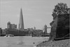 From The North Bank (Mabacam) Tags: 2018 london wapping river riverthames thames thamespath theshard towerbridge monochrome bw blackandwhite cityscape riverside