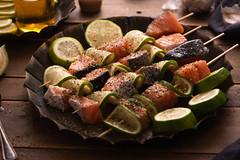 美食攝影 (benageXYZ-邊) Tags: ç´è² food foodphotography foodpron salmon seafood fish bbq benagexyz elinchrom taiwan 美食 美食攝影 串燒 鮭魚