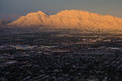 Las Vegas Sunset (Katka S.) Tags: usa las vegas city sunset big nevada mountain mountains dark evening stratosphere