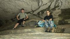RED02800 (David J. Thomas) Tags: caves caving hiking speleology class students lostvalley edenfalls naturalbridge cobcave edenfallscave waterfall creek stream karst ponca arkansas lyoncollege