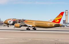 Hainan (Gold Kung Fu Panda livery) - Boeing 787-9 Dreamliner - B-1343 (vegas av spotter) Tags: b1343 klas las mccarran aviation boeing hainan airlines 787 789 7879 dreamliner gold kung fu panda dreamworks aircraft airplane