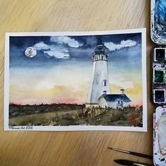 Lighthouse of Sylt (marusaart) Tags: lighthouse leuchtturm sylt landschaft landscape malen malerei paint painting marusaart künstler kunst artist art