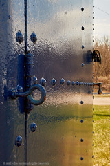 2018-04-28 15-41-19 (_MG_3139) (mikeconley) Tags: johnstown newyork eriecanal lock canal door rivets blue mindenville usa