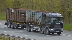 PO18 NFR (panmanstan) Tags: scania r490 wagon truck lorry commercial drawbar recycling waste freight transport haulage bulk vehicle a1m fairburn yorkshire