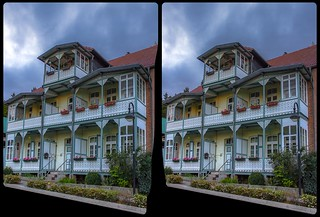Bad Suderode architecture 3-D / CrossView / Stereoscopy / HDRaw
