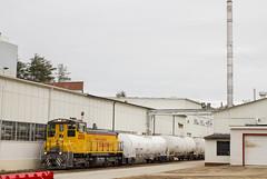 Clay Slurry Shuffle - Tilton, NH (CWentzell Photography) Tags: negs new england southern railway freight train track railroad newhampshire tilton 3m emd motivepower engine locomotive tanks clay slurry