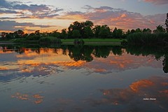 Irresistibile. (stefano.chiarato) Tags: tramonto sunset acqua water reflections riflessi nuvole clouds panorami paesaggio landscape lombardia italy parconordmilano pentax pentaxlife pentaxk70
