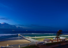 Blue hour at Merewether ocean baths, NSW Australia (Jhopne) Tags: oceanbaths merewether beach sunrise apr18 cloud australia canonef2470mmf28lusm sky canoneos5dmarkii newcastle nsw ocean