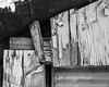 IMGP2155 (agianelo) Tags: barn shed paint peeling cracked abstract texture bw blackandwhite