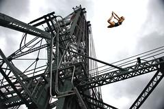 Freedom (Scott 97006) Tags: bridge steel structure woman female lady blonde fall dive jump
