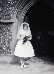 Pat's Wedding at Walton on the Naze  9th Sept 1961 (Bury Gardener) Tags: blackandwhite bw old oldies snaps scans people 1960s 1961 england uk britain