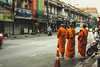 Monks - Bangkok, Thailand (ph.pigozzi) Tags: thailand asia indochina bangkok asiantrip exploringtheworld travel traveling asianculture street bangkokstreet monk monks monges tailandia