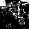 With baby (Michael Beresin) Tags: michaelberesin shotoniphone iphoneography iphone people blackandwhite streetphotography