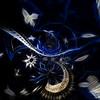 Nuit Indigo (carolinesheid) Tags: blue indigo bleu stars étoiles night nuit artnumérique digitalart fractalart krospaintings