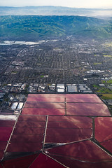 Salt Ponds of San Francisco Bay. (Gimo Nasiff) Tags: cargill san francisco bay salt ponds newark california aerial pools landscape travel west coast area greco island redwood city valley mountains sony a7ii ilce7mii