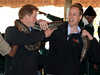 Prince Harry and Prince William (R) hold an African rock python during a visit to Mokolodi Education Centre on June 15, 2010 in Gaborone, Botswana. The Princes are on a six day joint trip to Africa to visit charities they support across Botswana, Lesotho and finally South Africa. (Photo by Chris Jackson/Getty Images)