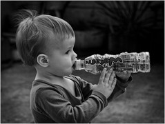 great thirst... (lubokl47) Tags: child boy thirst pentax helios44 bw monochrome