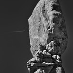 A Flight from One Side... (Black & White, Arches National Park) thumbnail