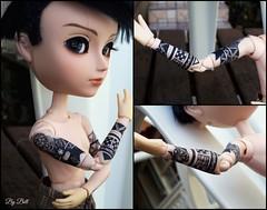 Travis Tattoo (2/2) (♪Bell♫) Tags: taeyang william travis romanov repaint custom doll groove tattoo tribal