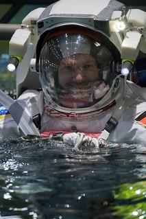 ESA astronaut Alexander Gerst training for spacewalks