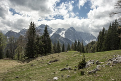 on the way (LG_92) Tags: slovenia triglav national park spring nature mountains green sky blue grass forest snow nikon dslr d3100 2018 may clouds outdoor hiking