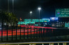 late night exodus (pbo31) Tags: oakland eastbay alamedacounty baybridge 80 bridge night black may 2018 spring boury pbo31 nikon d810 color lightstream motion traffic roadway highway infinity red pedestrian bike path sign over green prescott portofoakland
