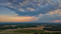 Late Day View - 051218-192059 (Glenn Anderson.) Tags: sun mavicpro drone evening outdoor sky cloud skyscape solar serene landscape cloudsstormssunrisesandsunsets clouds calm celltowers trees rays