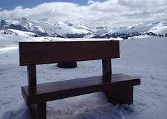 Rocky Mountain High Happy Bench Monday (Mr. Happy Face - Peace :)) Tags: sunshine snowcaps skiing bench hbm nature scenery clouds sky may2018 banff yyc albertabound canada alberta flickrsmugmug