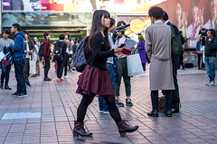 Confidence (burnt dirt) Tags: asian japan tokyo shibuya station streetphotography documentary candid portrait fujifilm xt1 laugh smile cute sexy latina young girl woman japanese korean thai dress skirt shorts jeans jacket leather pants boots heels stilettos bra stockings tights yogapants leggings couple lovers friends longhair shorthair ponytail cellphone glasses sunglasses blonde brunette redhead tattoo model train bus busstation metro city town downtown sidewalk pretty beautiful selfie fashion pregnant sweater people person costume cosplay purple bag black gray camera