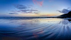 The Ghost of a  Smile (pauldunn52) Tags: sunset southerndown glamorgan heritage coast wales dunraven bay blue beach reflections cliffs