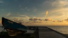 Morning mood (gillesgxl) Tags: landscape paysage ponton deck mer sea bateau boat sky ciel clouds nuages antilles martinique