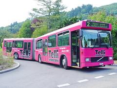 BBA 133 Volvo Hess B10 1990 in Aarau 24.9.2005 0364 (orangevolvobusdriver4u) Tags: autobus gelenkbus articulated bus volvo aarau volvobus switzerland busstop haltestelle 2005 archiv2005 hess bba schweiz aar tellibus telli suisse
