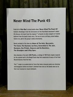 Mal-One - Never Mind The Punk 45 @ Herrick Gallery, London 18/5/2018